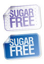 Labels for sugar free food Stock Photography