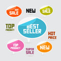 Labels tags stickers best seller new super sale top product Royalty Free Stock Photo