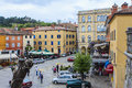 Labin croatia the tito square at istria was a former mining town now is it a place for artists Royalty Free Stock Photos