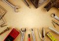Labor day background - tools with space Royalty Free Stock Photo