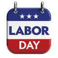 Labor day calendar reminder isolated on white clipping path included for easy selection Stock Photos