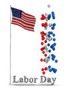 Labor day flyer graphic border background for any united states holiday poster or a brochure Royalty Free Stock Image