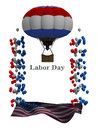 Labor day flyer graphic border background for any united states holiday poster or a brochure Royalty Free Stock Photos