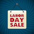 Labor day label Royalty Free Stock Photo