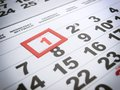 Labor day is marked on the calendar Stock Images