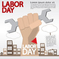 Labor day may st illustration conceptual vector eps Royalty Free Stock Photos