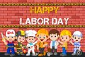 Labor day with people occupation difference