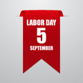 Labor Day. Red Label On A Gray...