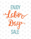 Labor day sale unique advertisement poster with handwritten lettering