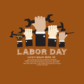 Labor day simply and clean illustration conceptual vector Stock Images
