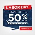 Labor Day Super Sale Sign