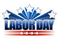 Labor day text design Royalty Free Stock Photo