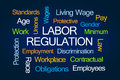 Labor Regulation Word Cloud Royalty Free Stock Photo
