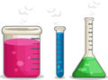 Laboratorium chemical flask a vector set of several flasks drawn in cartoon style this vector is very good for design that need Royalty Free Stock Image