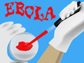 Laboratory analysis of a biological sample in suspected ebola Stock Photo