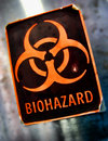 Laboratory Biohazard Danger Warning Label Royalty Free Stock Photo