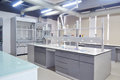 Laboratory empty with modern design Royalty Free Stock Images