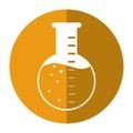 Laboratory flask glass liquid shadow