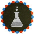 Laboratory flask symbol Royalty Free Stock Image