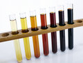 Laboratory glass test tube and liquid Royalty Free Stock Photos
