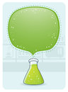 Laboratory glassware with a big bubble vector illustration of glasware Stock Photos