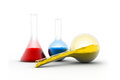 Laboratory glassware equipment on isolated background Stock Photography