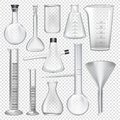 Laboratory glassware instruments. Equipment for chemical lab