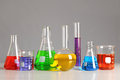 Laboratory Glassware on Table Royalty Free Stock Photo