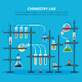 Laboratory or lab for chemical experiments