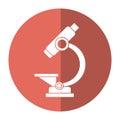 Laboratory microscope equipment icon shadow