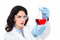 Laboratory research scientific woman in health care Stock Image