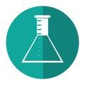 Laboratory test tube chemistry shadow
