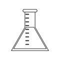 Laboratory test tube chemistry thin line