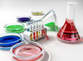 The laboratory tust tubes Stock Photos