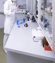 Laboratory a woman working in a medical lab Stock Photos