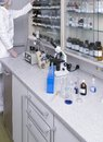Laboratory a woman working in a medical lab Royalty Free Stock Photo