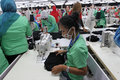 Labour was working in a garment factory in wonogiri central java indonesia Stock Images