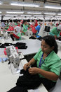 Labour was working in a garment factory in wonogiri central java indonesia Stock Photography