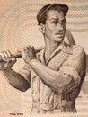 Labourer portrait Royalty Free Stock Photo