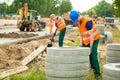 Labourer working hard Royalty Free Stock Photo