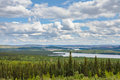 Labrador City and Wabush mining towns NL Canada Royalty Free Stock Photo