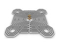 Labyrinth dollar Royalty Free Stock Photo