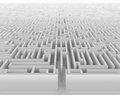 Labyrinth an endless in perspective view Royalty Free Stock Photo