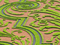 Labyrinth in a french garden Stock Images
