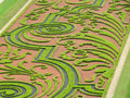 Labyrinth in a french garden Royalty Free Stock Images