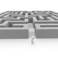 Labyrinth great challenge all courageous people Royalty Free Stock Images
