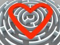 Labyrinth and heart Stock Image