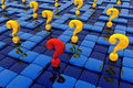 Labyrinth of questions Royalty Free Stock Photography