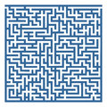 Labyrinth simple with some wrong ways and exit Royalty Free Stock Photos