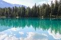 Lac beauvert jasper national park in alberta Stock Image
